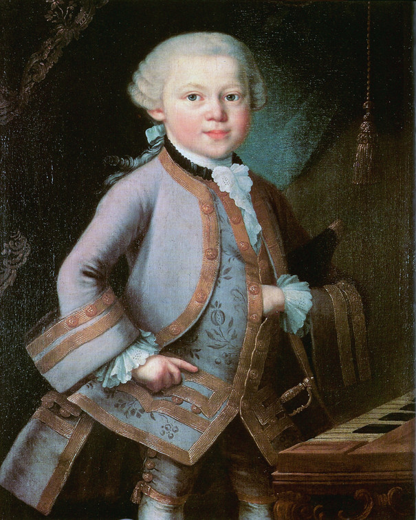 Young Mozart at 6 Years Old