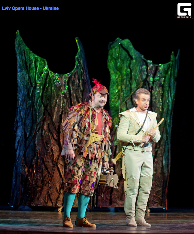 Papageno and Tamino in The Magic Flute