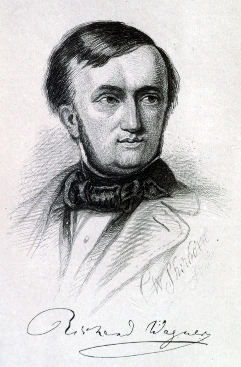 Richard Wagner. Etching by C.W.Sherborn